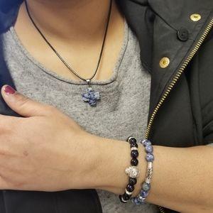 Lapis Lazuli Beaded RoyaleBlue Bracelets &necklace